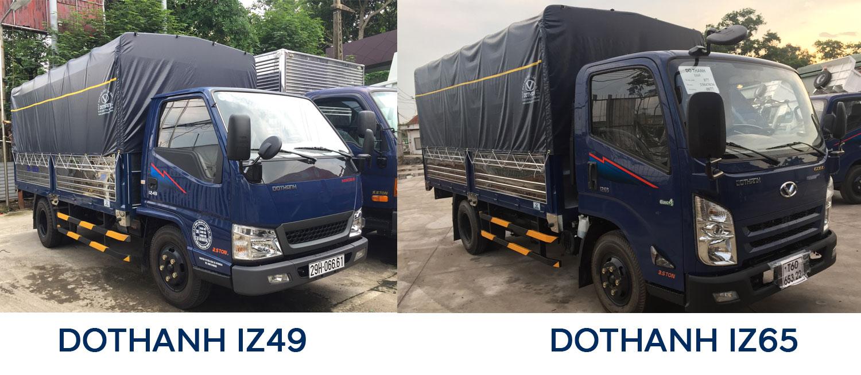 Xe tải 2.5 tấn Dothanh IZ49 và Dothanh IZ65