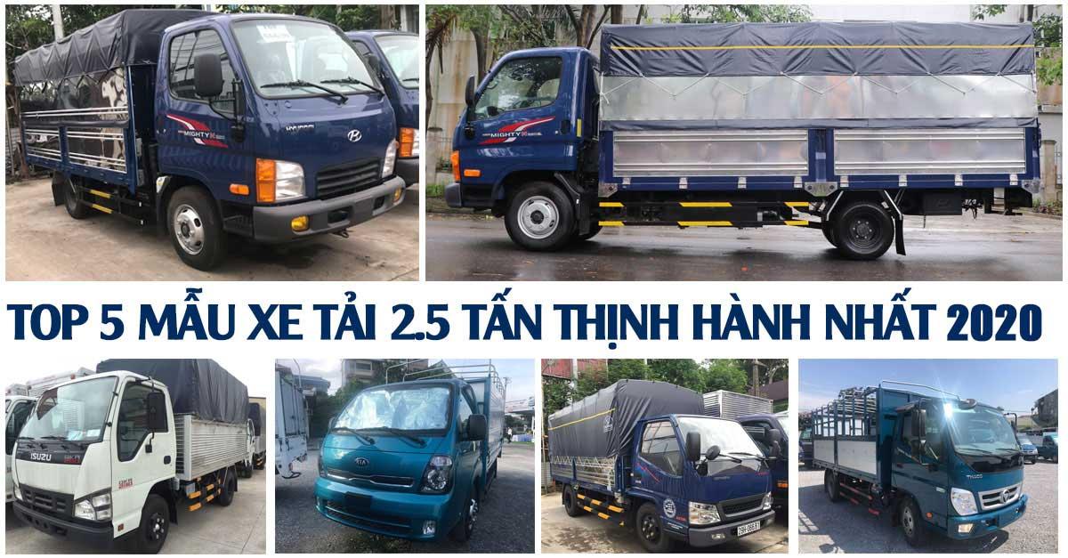 top 5 mau xe tai 2 5 tan thinh hanh nhat 2019