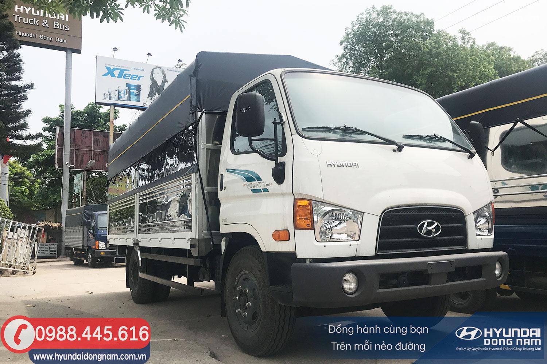 Hình ảnh xe Hyundai 110SP thùng bạt thường