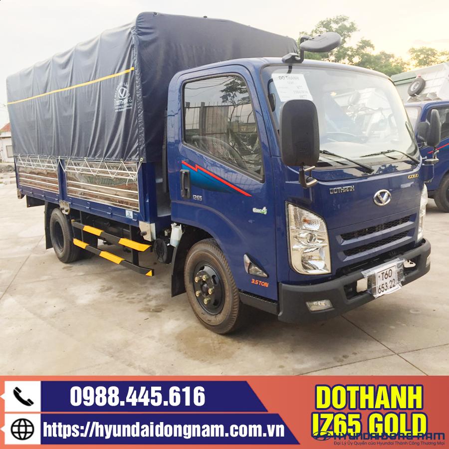 Xe tải 2.5 tấn Dothanh IZ65 thùng mui bạt